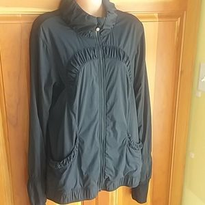 Lululemon Athletica black striped jacket